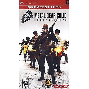 Metal Gear Solid Portable Ops PSP Game (Greatest Hits)
