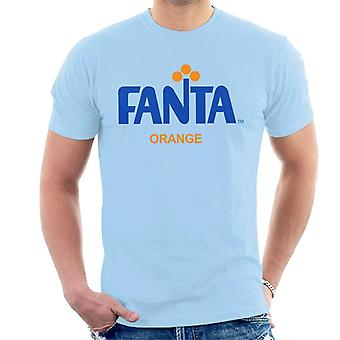 T-shirt dos homens do logotipo retro de Fanta 1970s