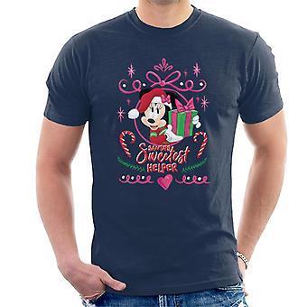 Disney Minnie Mouse Santa-apos;s Sweetest Helper Men-apos;s T-Shirt