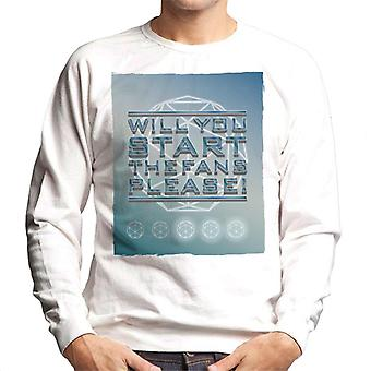 The Crystal Maze Will You Start The Fans Please Tonal Men's Sweatshirt