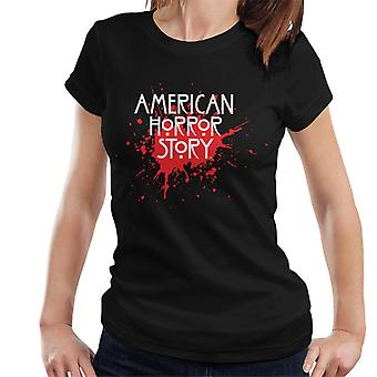 Amerikai horror történet Blood fröccs logo nők ' s T-shirt