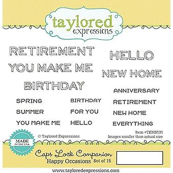 Taylored Expressions Caps Lock Companion - Happy Occasions