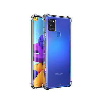 Samsung A21 Hoesje Transparant - Anti Shock