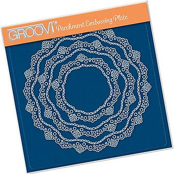 Groovi Nested Lace Doily Frames A5 Square Plate
