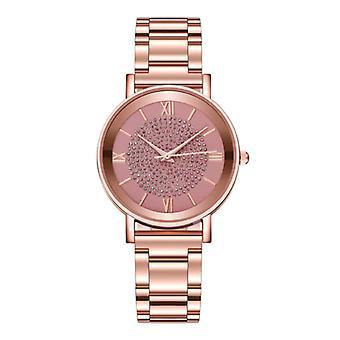 HEZHUKEJI Watch Luxury Ladies - Anologue Quartz Movement for Women Pink