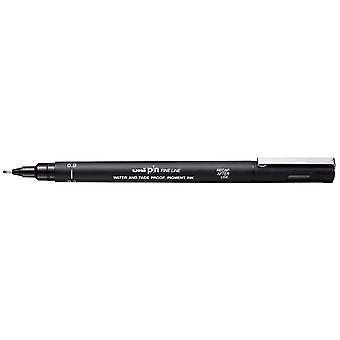 Uni Pin Fine Line Pen, Black, 0.9