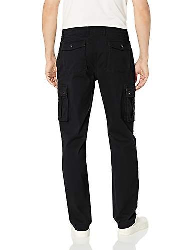 Essentials Men's Straight-fit Stretch Cargo Pant, Negro, 40W x 29L