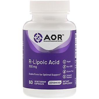 Advanced Orthomolecular Research AOR, Acide R-Lipoic, 300 mg, 60 Capsu végétarien