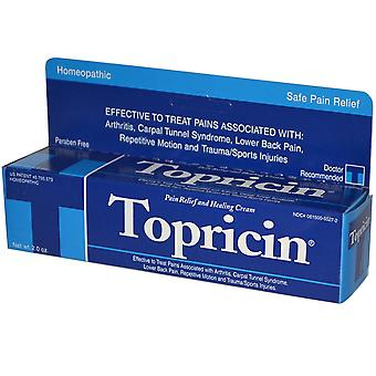 Topricin, Pain Relief and Healing Cream, 2.0 oz