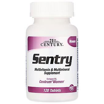 21e eeuw, Sentry Vrouwen, Multivitamine & Multimineral Supplement, 120 Tabletten