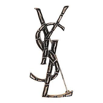 Saint Laurent 470371y15008142 Kvinder's Sølv messing pin