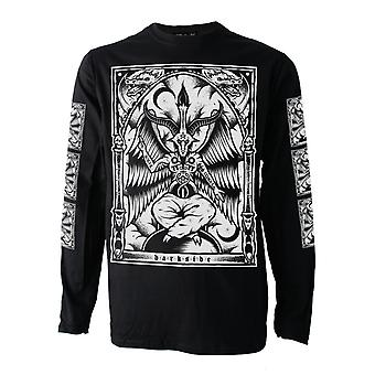 Dark Side-Baphomet-heren lange mouwen top-zwart