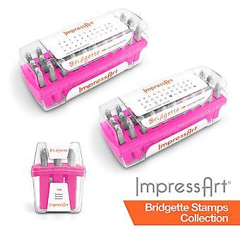 ImpressArt 3mm Bridgette Font 75 pc. Full Stamp Collection for Stamps