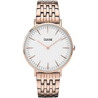 Cluse Cw0101201024 La Bohème White & Rose Gold Stainless Steel Ladies Watch