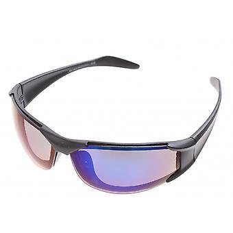 sportzonnebril unisex blauw zonder frame met blauwe lens