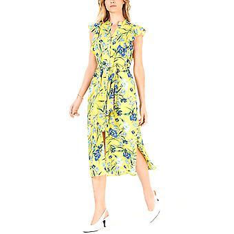 Maison Jules | Printed Flutter-Sleeve Midi Dress