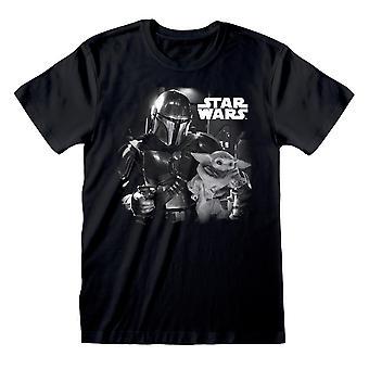 Star Wars: The Mandalorian Unisex Adult Photograph T-Shirt