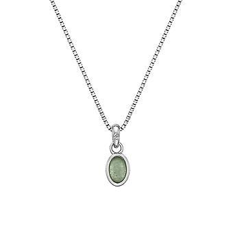 Hot Diamonds Sterling Silver Green Aventurine Pendant DP756