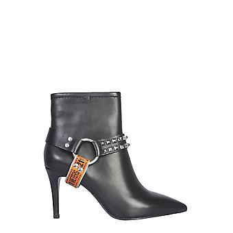 Ash Britney01 Women's Black Leather Ankle Boots