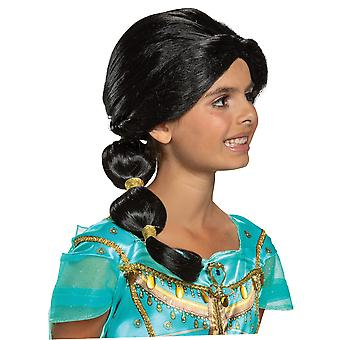 Jasmine Princess Disney Aladdin Live Action Movie Black Child Girls Costume Wig
