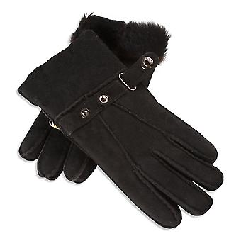 Nordvek Sheepskin Gloves Mens - Adjustable Popper Strap Cuff # 307-100