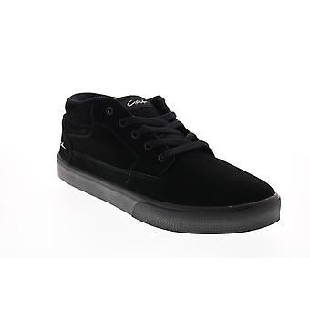 Circa Landmark  Mens Black Suede Skate Inspired Sneakers Shoes