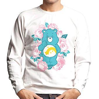 Pflege Bären Wunsch Bär rosa Blumen Männer's Sweatshirt