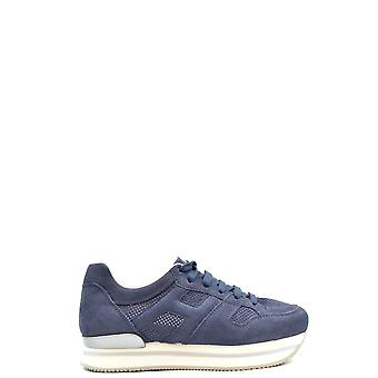 Hogan Ezbc030221 Women's Blue Suede Sneakers