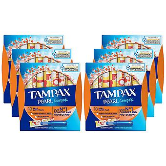 Tampax Protection Applicator, Super Plus Compak, Pack of 6
