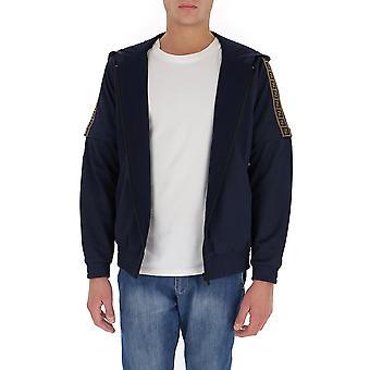 Fendi Faf563aay2f0v6w Men's Blue Nylon Sweatshirt