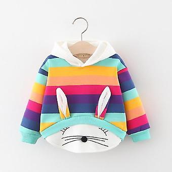 Cartoon Kaninchen Muster-Kapuzen Sweatshirts