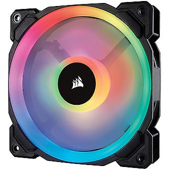 Corsair  co-9050071-ww ll120 120 mm Dual Light Loop rgb led pwm lüfter - schwarz schwarz (rgb) 1 x 120 mm