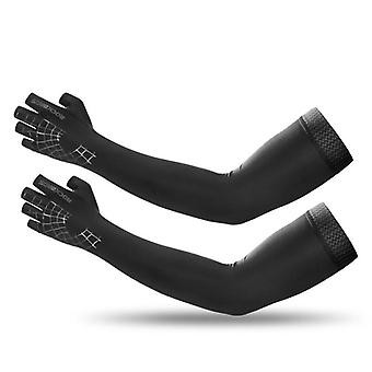 Sports Arm Sleeve Gloves, Breathable Elasticity Running Hiking Sleeves Warmer