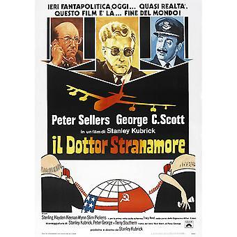 Tohtori Outolempi Italian juliste Peter Sellers 1964 elokuvan juliste Masterprint