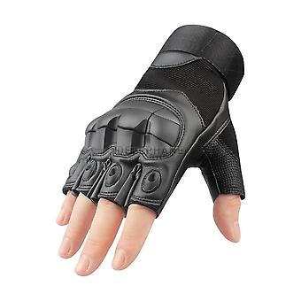 Hard Knuckle Leather Tactical Gloves Military Touchscreen Full Finger