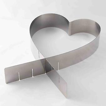 Nastavitelný prsten ve tvaru srdce nerezová ocel - koláče a pečivo - 1 kus