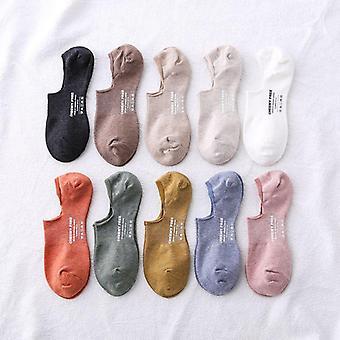 Nuovo cartone animato cotone caviglia candy colore calze corte Pantofole