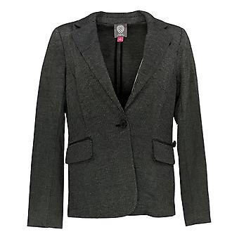 Vince Camuto Women's Coat Herringbone Blazer à un bouton Gris A343591