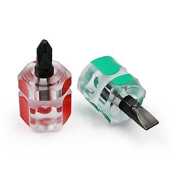 Mini Small Portable, Head Screw Driver, Transparent Handle, Repair Hand Tools