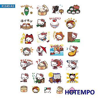 Cute Cartoon Kuromi Melody Keroppi Pekkle Diary Stickers Diy Letter Scrapbook