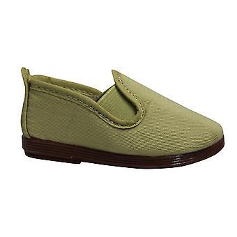 Flossy Стиль Памплона Дети Espadrille скольжения на Plimsolls обувь 55 Тостадо