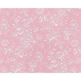 Dolls House Tiffany Reverse Rose Miniature Print Wallpaper 3