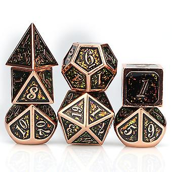 Metal Dnd & Mtg Rpg Dice Set