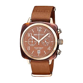 Briston 20140.PRA.T.38.NTC Clubmaster Classic Terracotta Acetate Wristwatch Brown