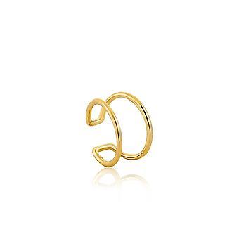 אניה האלה כסף שטרלינג מצופה זהב האוזן המודרנית E002-07G