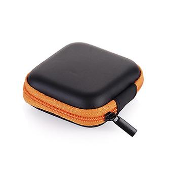 Hot Square Earphone Cable Storage Zip Lock Coin Wallet