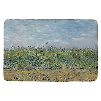 Coral Velvet Carpet Retro Starry Night Painting Entrance Indoor Floor Mat