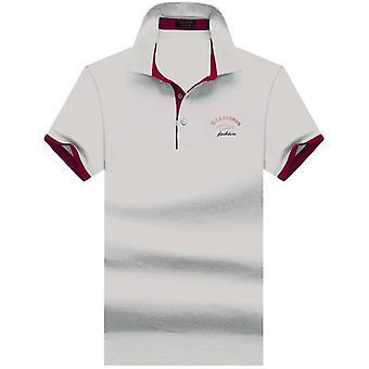 جديد بولو قميص الأعمال وعارضة قميص الصلبة قصيرة الأكمام قميص تنفس