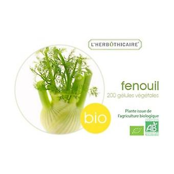 Organic fennel seed 200 capsules of 300mg