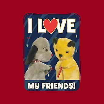 Sooty Jag älskar mina vänner Men's Sweatshirt